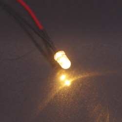 LED précablée jaune