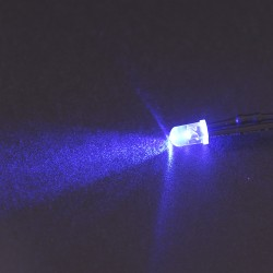 LED precableado azul