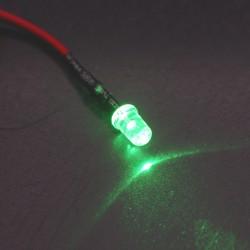 LED precableado verde