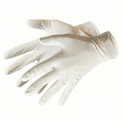 Protective latex gloves