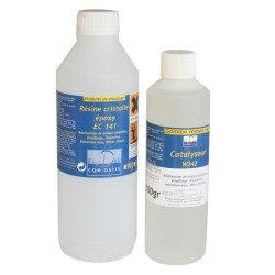 Résine cristalle Epoxy - 1,5kg