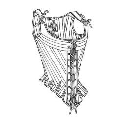 Pattern - boning, pocket hoops