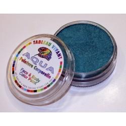 Aqua métal vert
