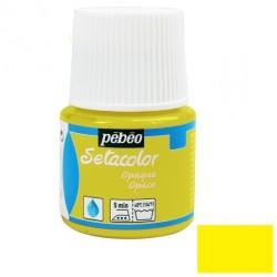Peinture textile - jaune...