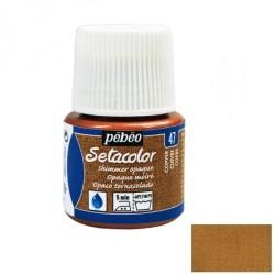 Peinture textile - cuivre