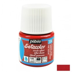 Suede effect paint - red...