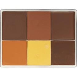 Palette fard crème 6 couleurs
