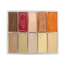 Palette fard crème 10 couleurs